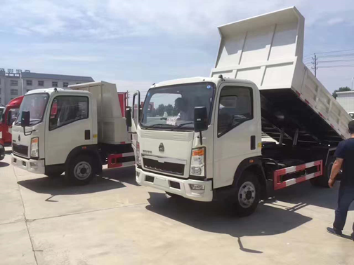 SINOTRUK HOWO 6 Wheelers 4×2  Tipper Truck with 10 tons capacity,EURO IV,116HP