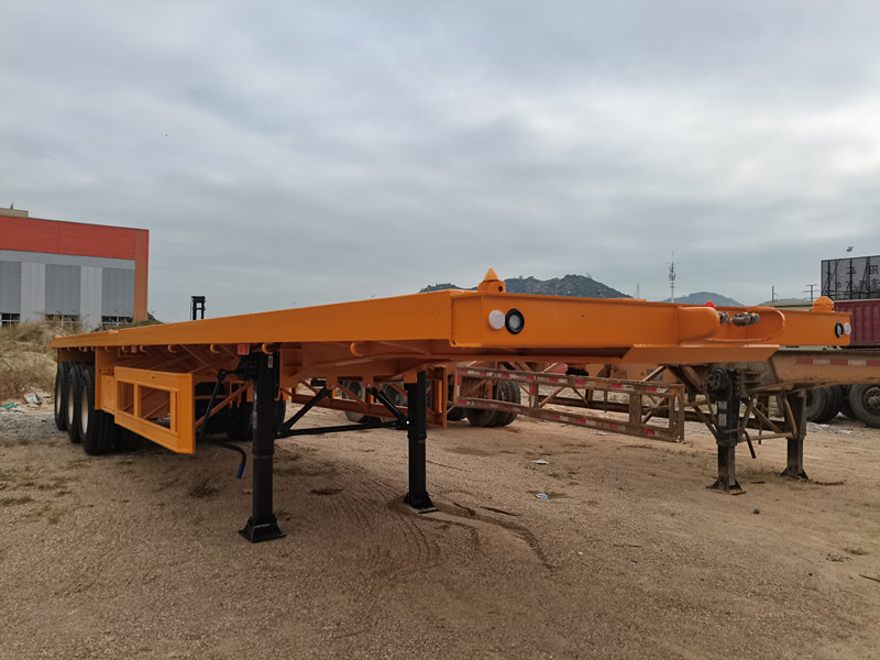 40FT Flatbed semi trailer with 3 axles